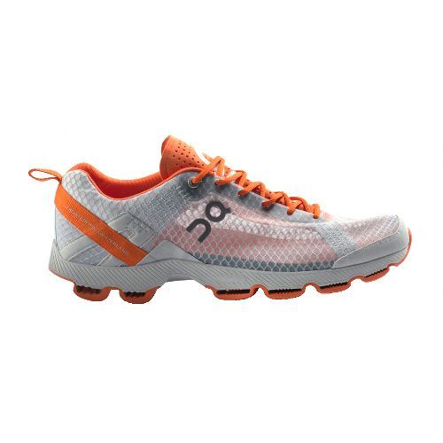 Mens On Cloudracer Running Shoe - Silver/Orange 11.5