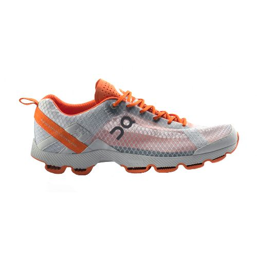 Womens On Cloudracer Running Shoe - Silver/Orange 8.5