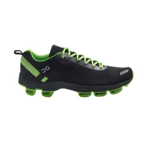 Mens On Cloudsurfer Running Shoe - Black/Lime 9.5