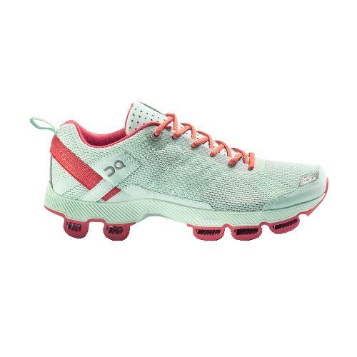 Womens On Cloudsurfer Running Shoe - Aqua/Coral 10