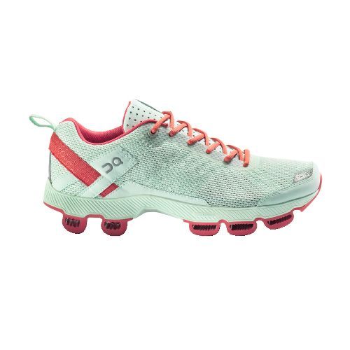 Womens On Cloudsurfer Running Shoe - Aqua/Coral 8.5