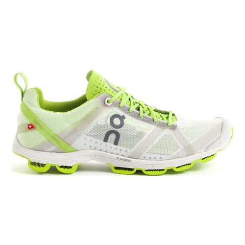 Womens On Cloudracer 2 Running Shoe - Silver/Lime 9.5