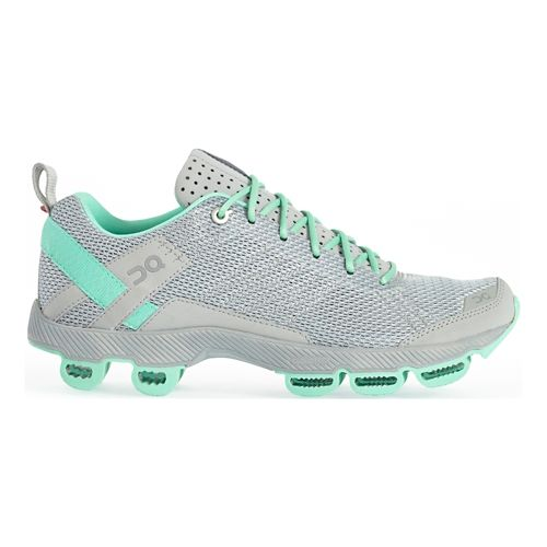 Womens On Cloudsurfer 2 Running Shoe - Gray/Mint 6.5