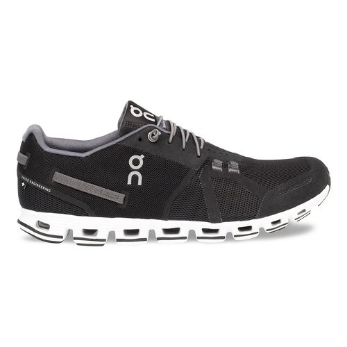 Mens On Cloud Running Shoe - Black/White 13