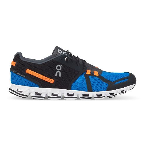 Mens On Cloud Running Shoe - Black/Blue 7.5