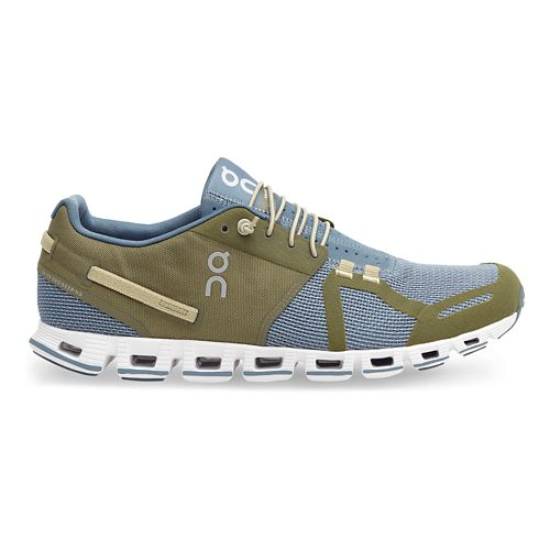 Mens On Cloud Running Shoe - Olive/Grey 10