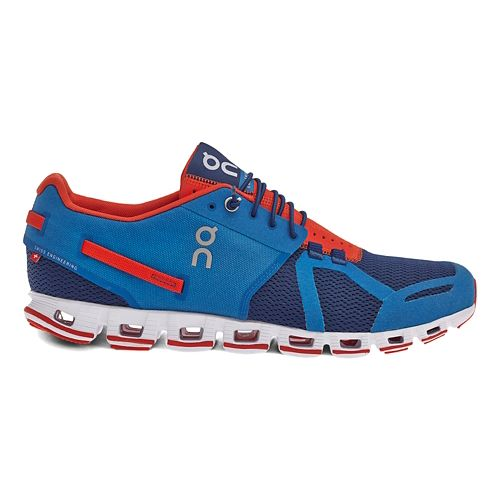 Mens On Cloud Running Shoe - Blue/Orange 8.5