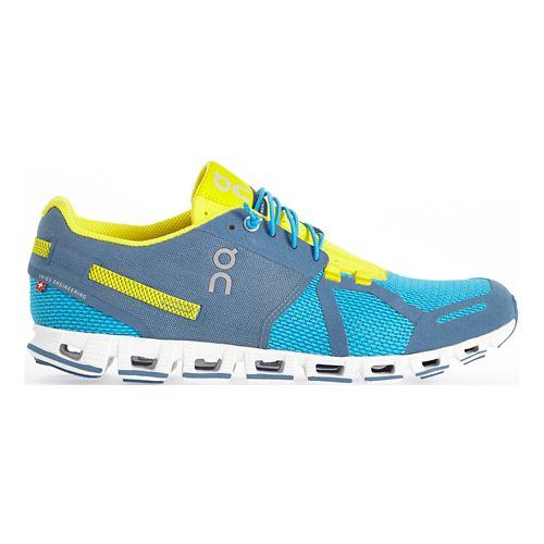 Mens On Cloud Running Shoe - Blue/Yellow 10.5