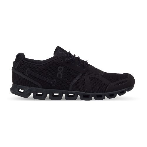 Womens On Cloud Running Shoe - Black/Black 7.5