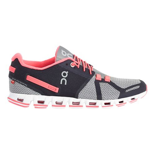 Womens On Cloud Running Shoe - Grey/Pink 9.5