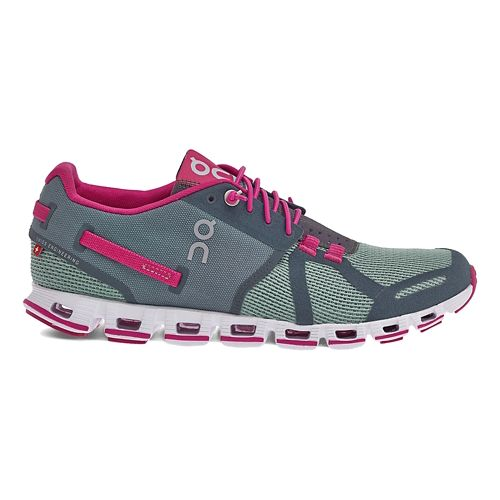 Womens On Cloud Running Shoe - Forest/Raspberry 6