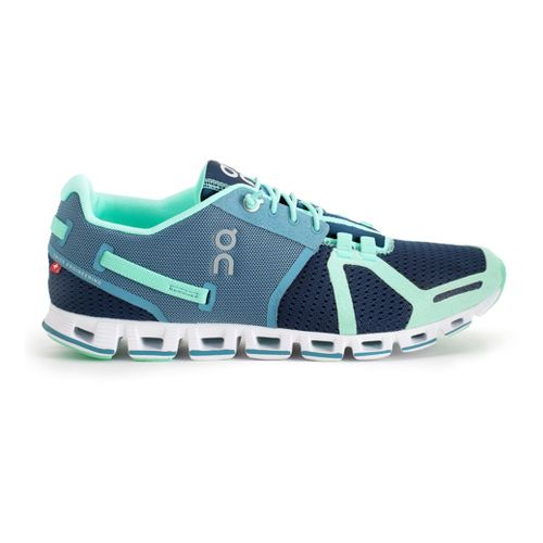Womens On Cloud Running Shoe - Mint/Blue 8.5