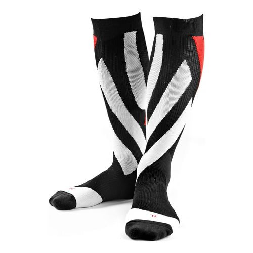 110% Flat Out Compression Sox Pair Injury Recovery - Black/White S