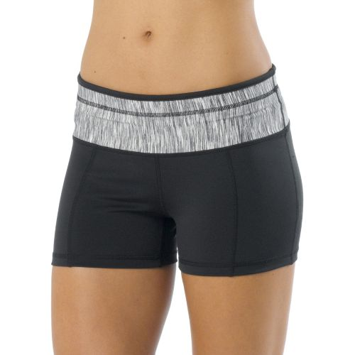 Womens Prana Brea Fitted Shorts - Black XL