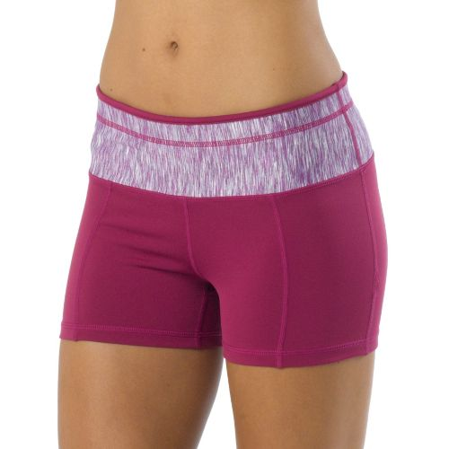 Womens Prana Brea Fitted Shorts - Boysenberry S