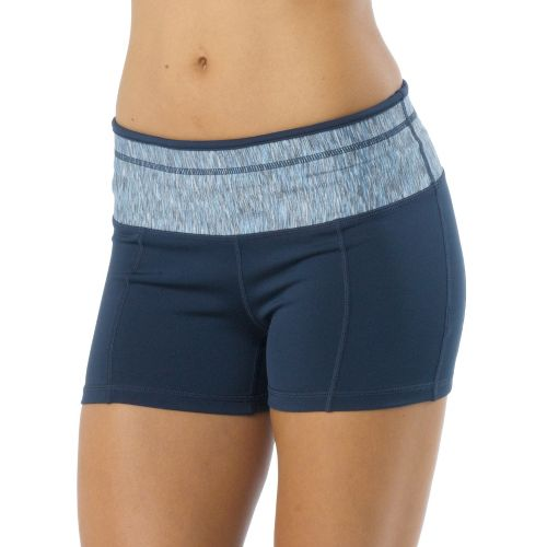 Womens Prana Brea Fitted Shorts - Dress Blue S