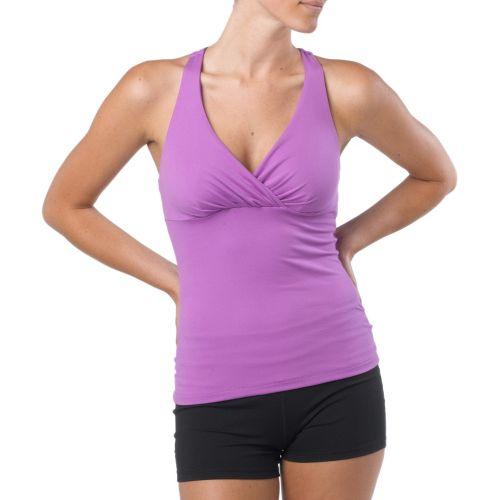 Womens Prana Kira Top Sports Bras - Dewberry L