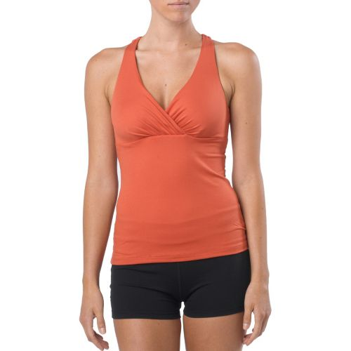 Womens Prana Kira Top Sports Bras - Indian Red XS