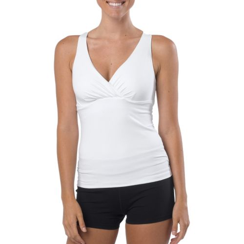 Womens Prana Kira Top Sports Bras - White XS