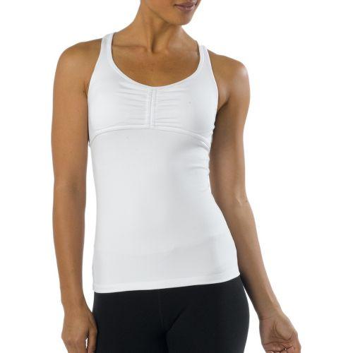 Womens Prana Madison Sport Top Bras - White M