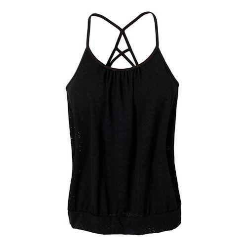 Womens Prana Meadow Sport Top Bras - Black XL