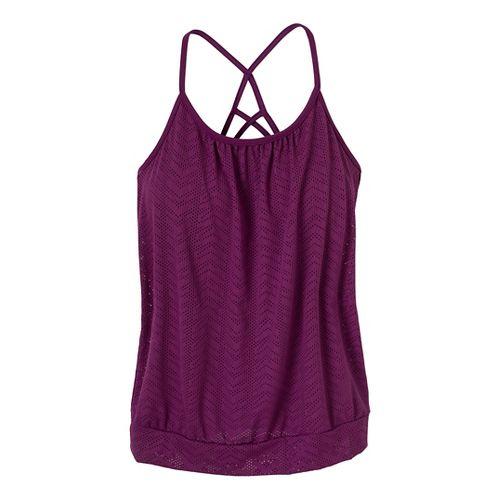 Womens Prana Meadow Sport Top Bras - Red Violet L