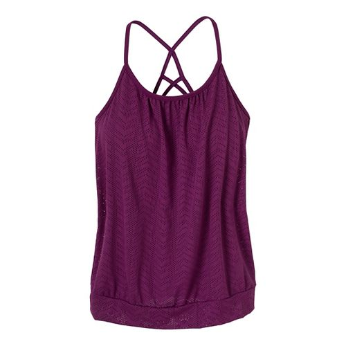 Womens Prana Meadow Sport Top Bras - Red Violet S