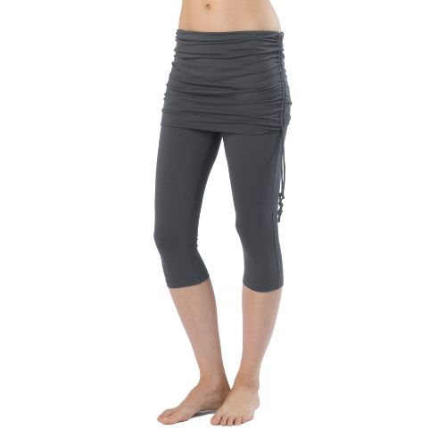 Womens Prana Cassidy Capri Tights - Coal XS