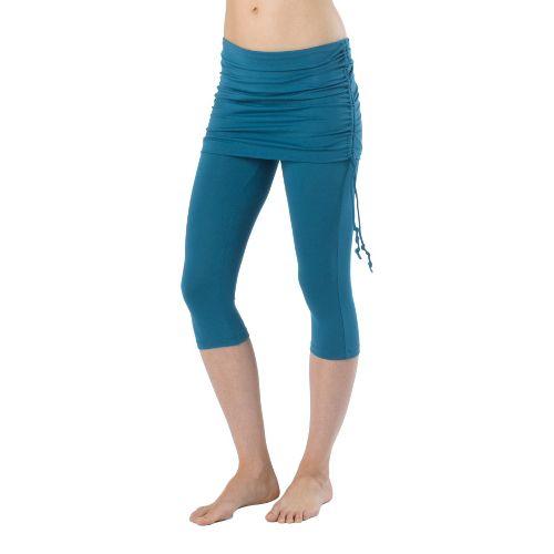 Womens Prana Cassidy Capri Tights - Ink Blue XS