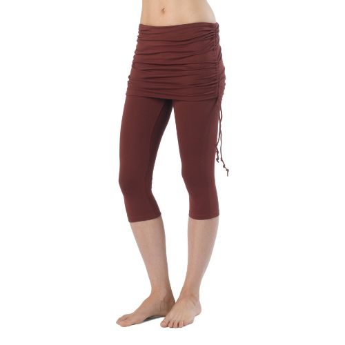 Womens Prana Cassidy Capri Tights - Raisin XL