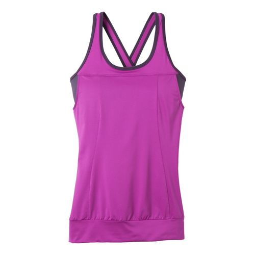 Womens Prana Gabrielle Tanks Technical Tops - Berry XS