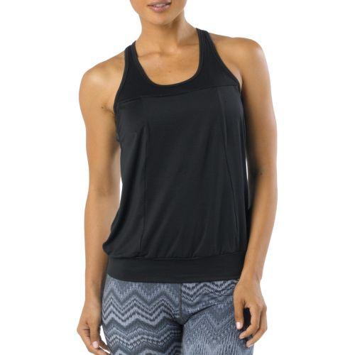 Womens Prana Gabrielle Tanks Technical Tops - Black XL