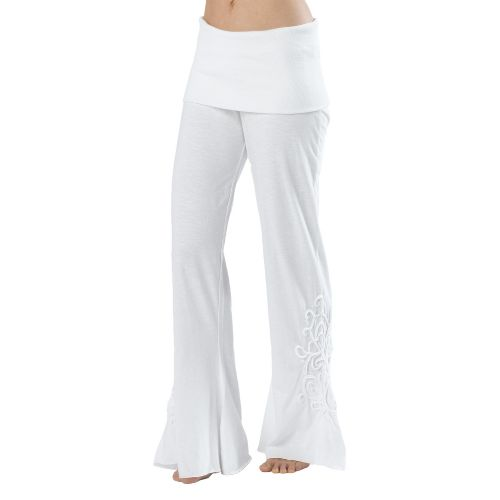 Womens Prana Malibu Full Length Pants - White M