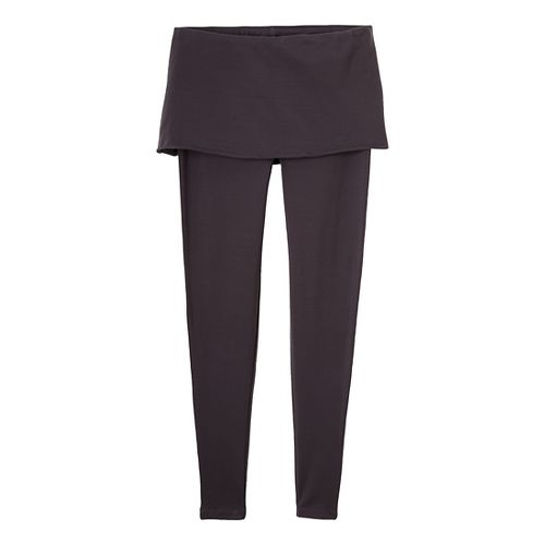 Womens Prana Satori Legging Fitted Tights - Charcoal L