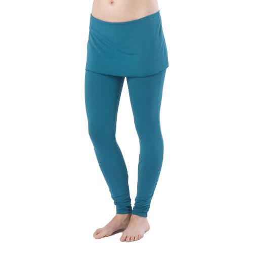 Womens Prana Satori Legging Fitted Tights - Ink Blue M
