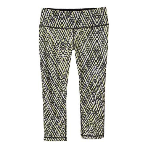 Womens Prana Maison Knicker Capri Tights - Black/Sierra XL