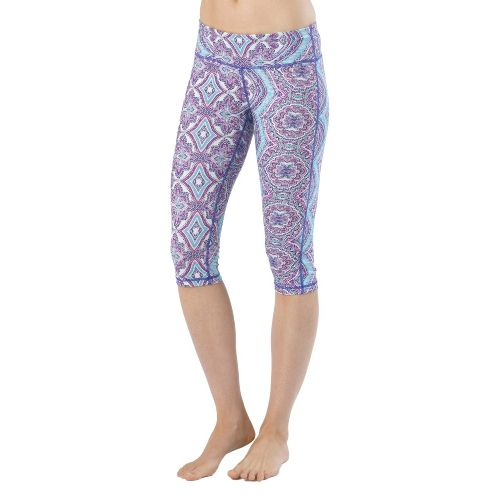Womens Prana Maison Knicker Capri Tights - Sail Blue Bali M