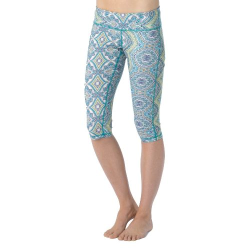 Womens Prana Maison Knicker Capri Tights - Sea Mist XS