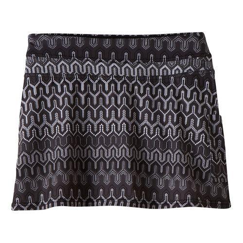 Womens Prana Sugar Mini Skort Fitness Skirts - Black Ibiza XL