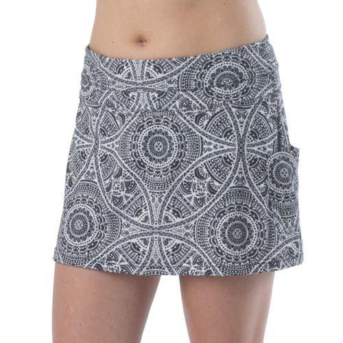 Womens Prana Sugar Mini Skort Fitness Skirts - Black Mayan S