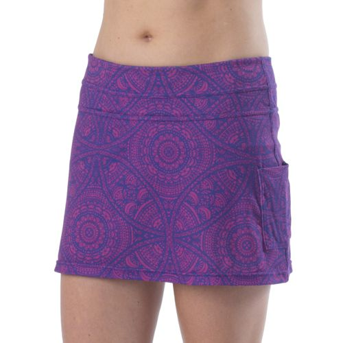 Womens Prana Sugar Mini Skort Fitness Skirts - Sail Blue Mayan M