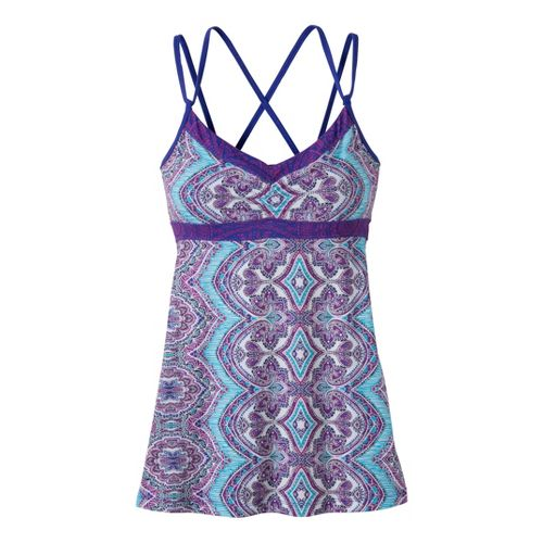 Womens Prana Kaley Tunic Sport Top Bras - Sail Blue Bali XS