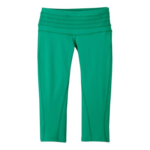 Womens Prana Olympia Knicker Capri Tights - Cool Green XS