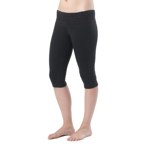 Womens Prana Olympia Knicker Capri Tights - Black M