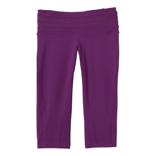 Womens Prana Olympia Knicker Capri Tights - Boysenberry L