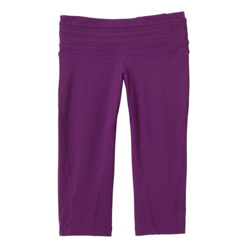 Womens Prana Olympia Knicker Capri Tights - Boysenberry XL