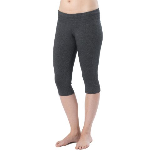 Womens Prana Olympia Knicker Capri Tights - Charcoal Heather XS