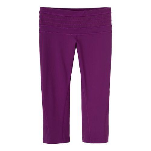 Womens Prana Olympia Knicker Capri Tights - Red Violet XL