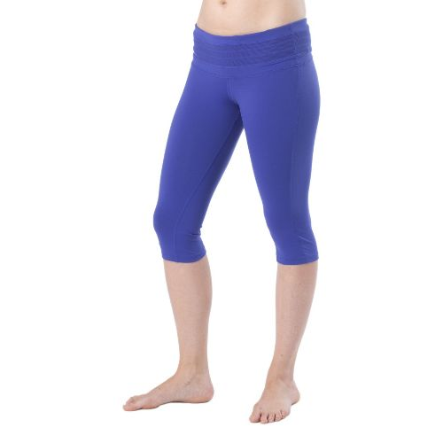 Womens Prana Olympia Knicker Capri Tights - Sail Blue L