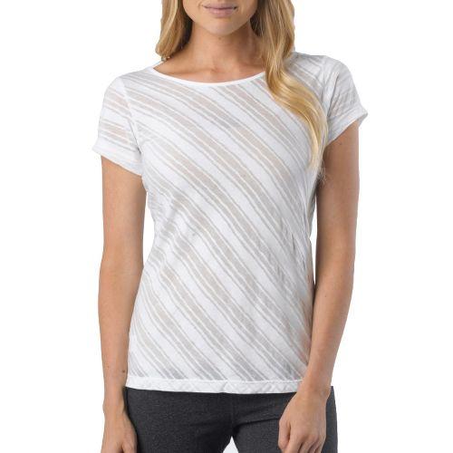 Womens Prana Serenity Tee Short Sleeve Technical Tops - White XL